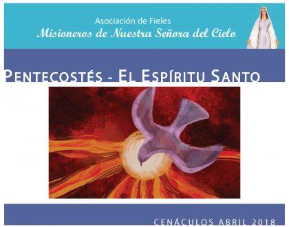 Cenáculos de Abril: el Espíritu Santo