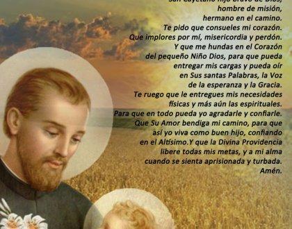El 07 de Agosto celebramos a San Cayetano