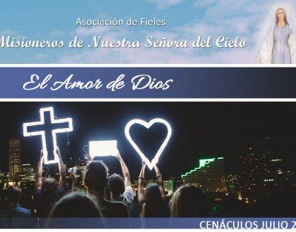 Cenáculos de Julio: el Amor de Dios