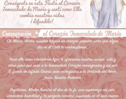 Consagración al Inmaculado Corazón de María 💝