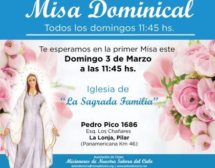 ¡Llego el gran día, primera Misa Dominical en la Casa de la Virgen! 🌹