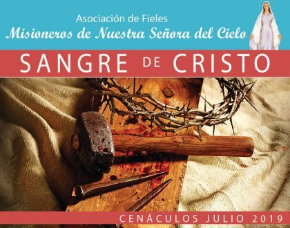 Cenáculos de julio: Sangre de Cristo